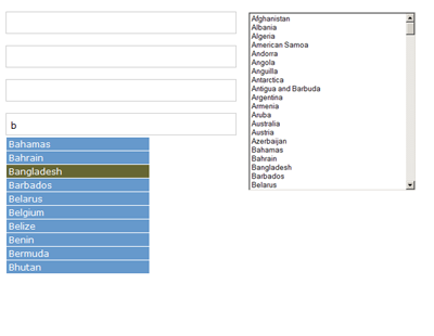 jquery multiple selectbox to autocomplete