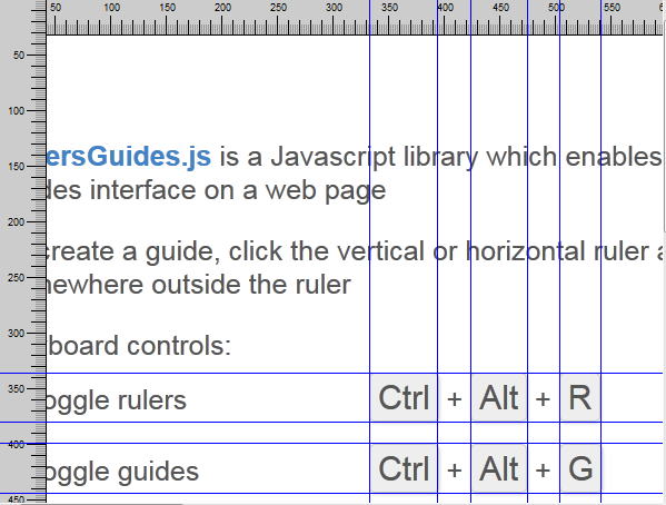 Rulers and guides example